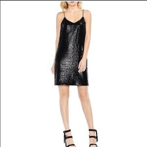 Vince Camuto Sequin Cami Dress in Rich Black